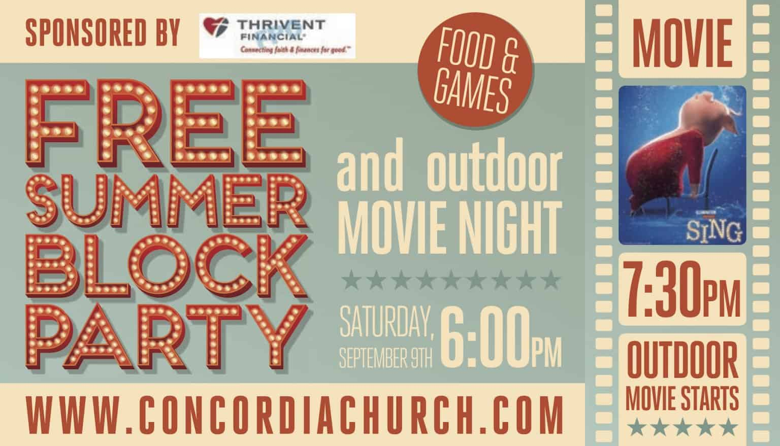 Community Outdoor Movie Sing