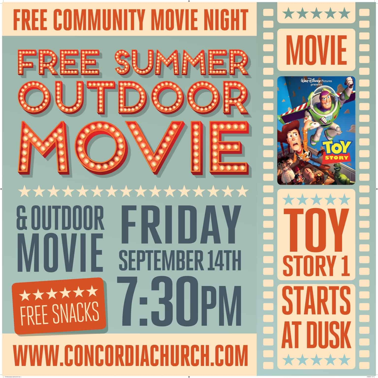 Community Outdoor Movie Toy Story