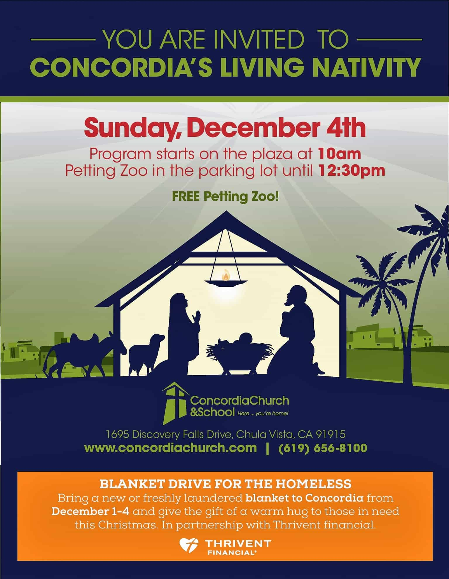 Living Nativity Flyer